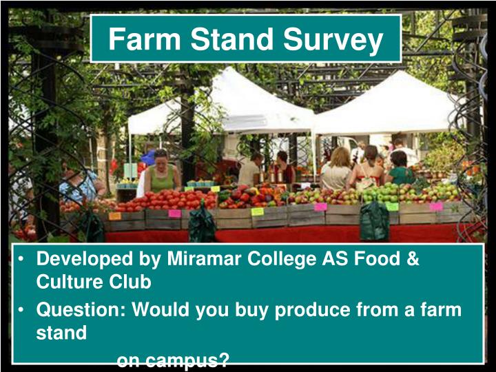 Farm Stand Survey