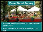 farm stand survey1