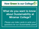 how green is our college