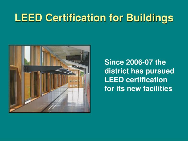 Leed certification for buildings
