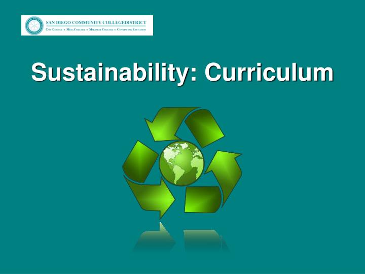 Sustainability: Curriculum