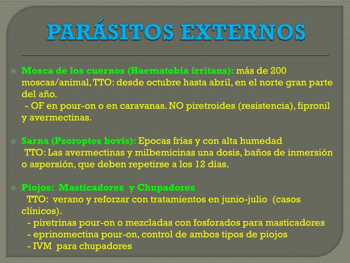 PARÁSITOS EXTERNOS