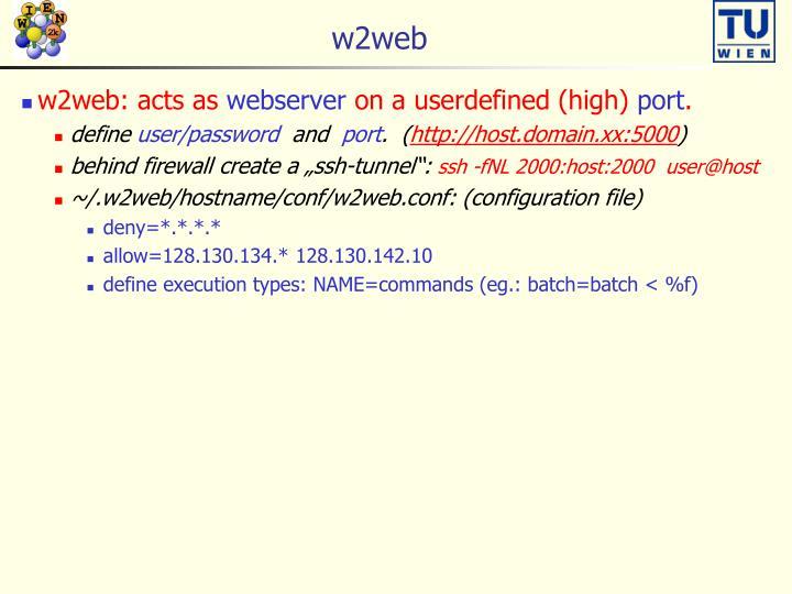 w2web