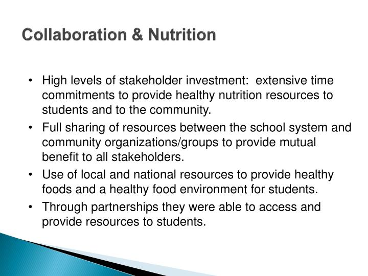 Collaboration & Nutrition