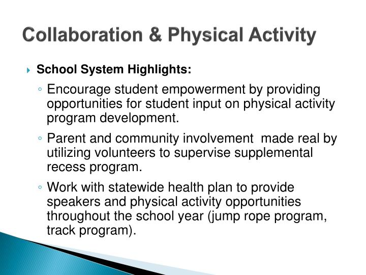 Collaboration & Physical Activity