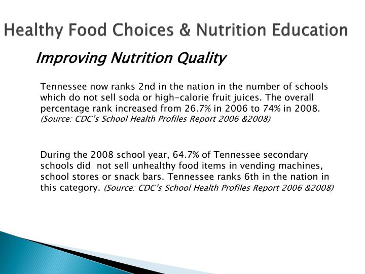 Healthy Food Choices & Nutrition Education
