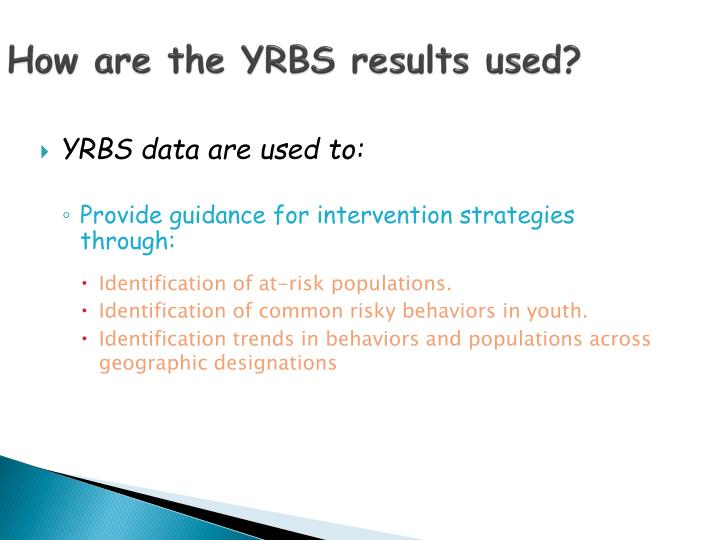 How are the YRBS results used?