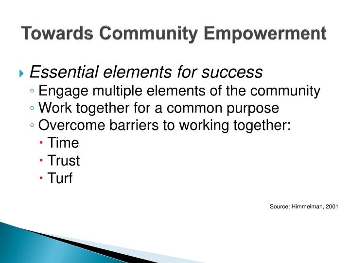 Towards Community Empowerment