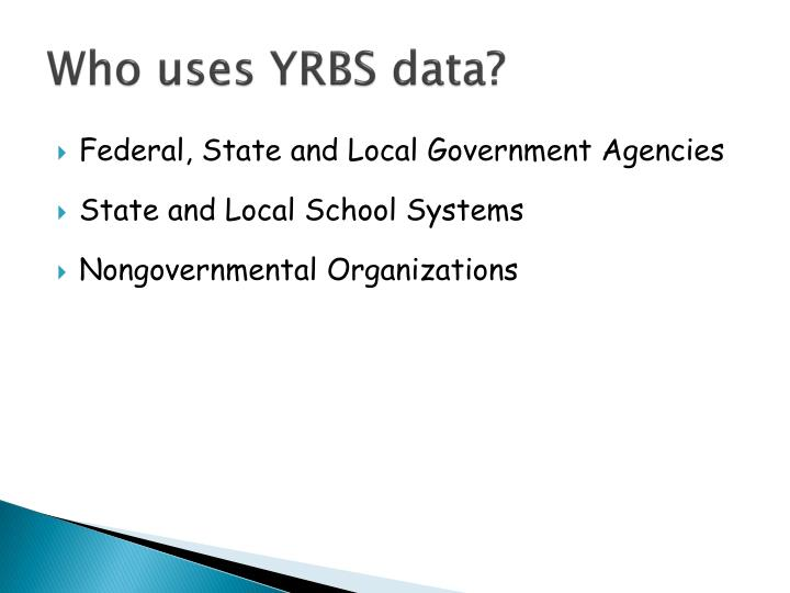 Who uses YRBS data?