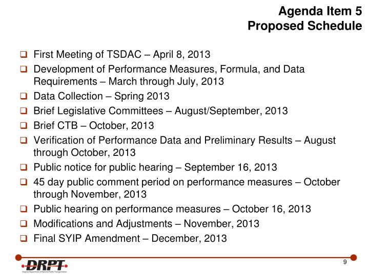 Agenda Item 5