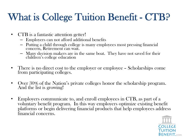 What is college tuition benefit ctb