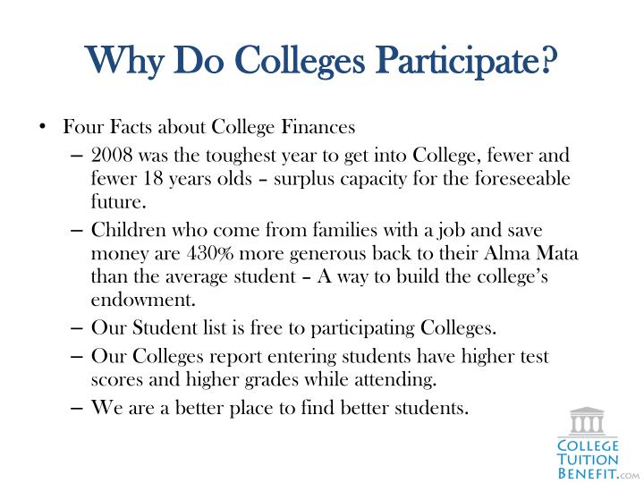 Why Do Colleges Participate?