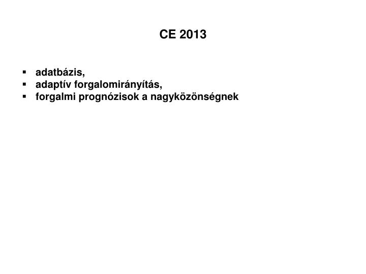 CE 2013