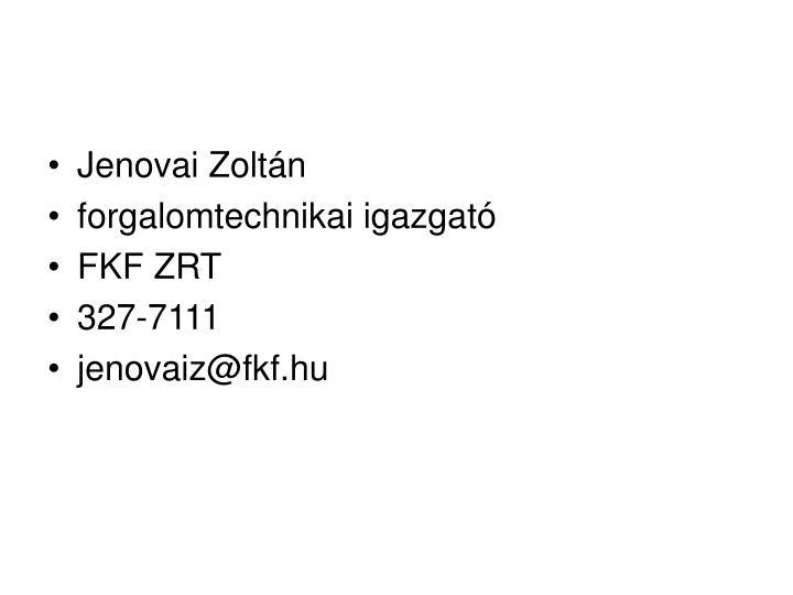 Jenovai Zoltán