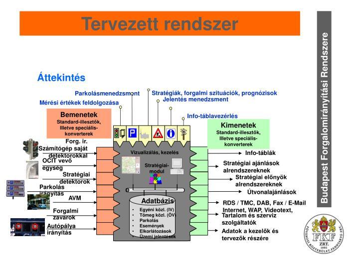 Tervezett rendszer