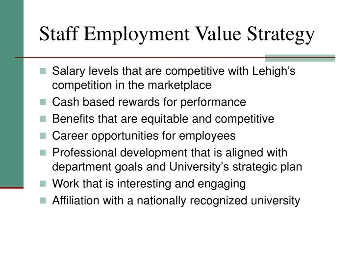 Staff Employment Value Strategy