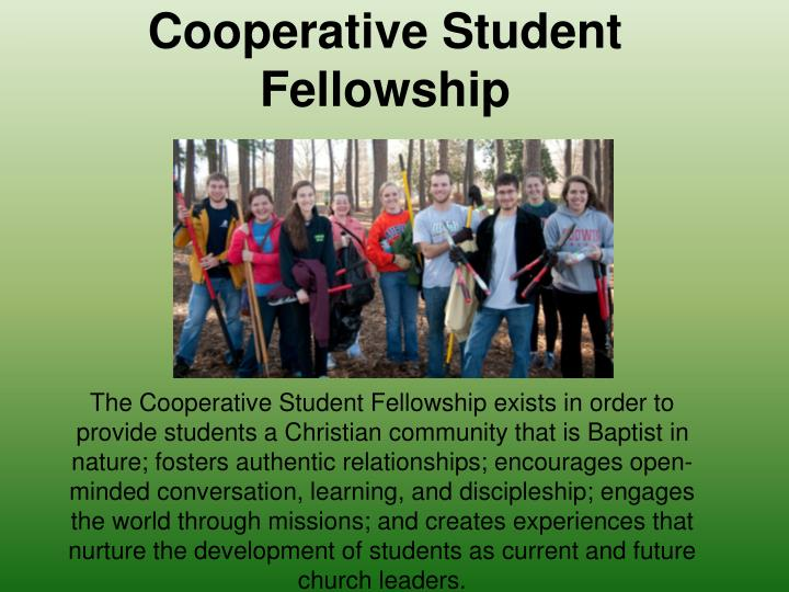 Cooperative student fellowship