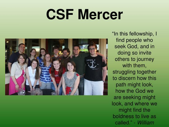CSF Mercer