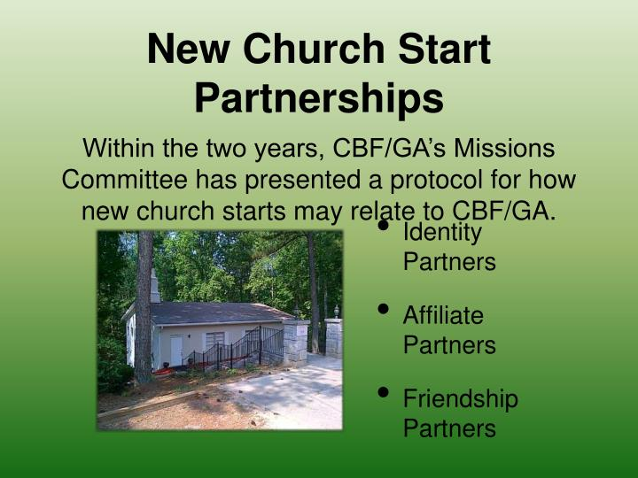 New Church Start Partnerships