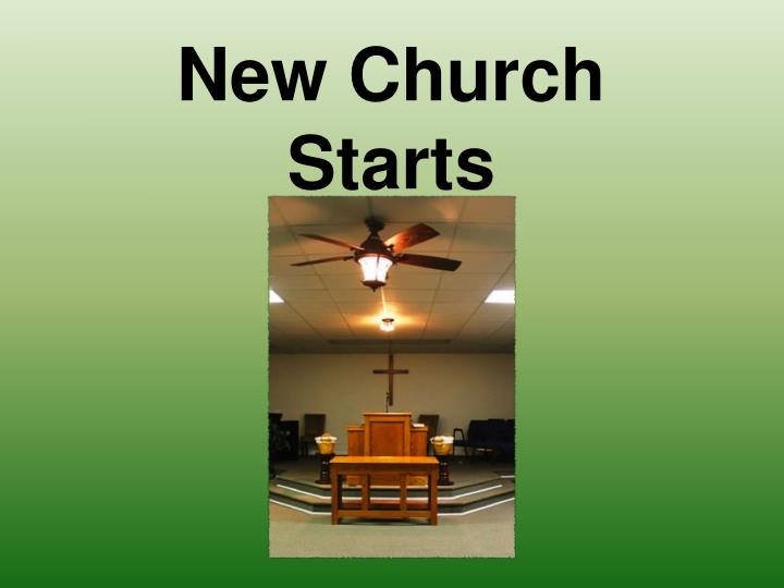 New Church Starts