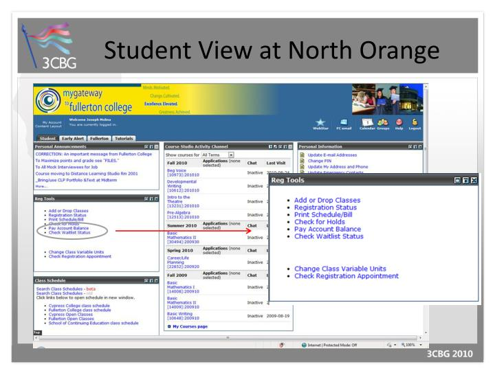 Student View at North Orange