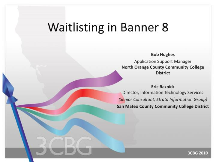 Waitlisting in banner 8