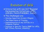 evolution of gcg