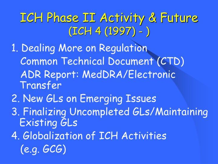 ICH Phase II Activity & Future