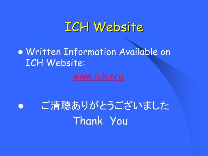 ICH Website