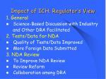 impact of ich regulator s view