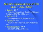 mhlw s implementation of ich gls july 2003