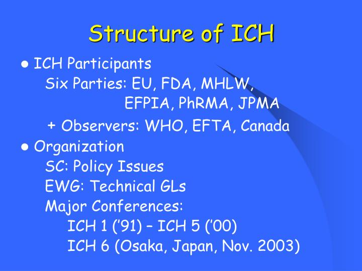 Structure of ICH