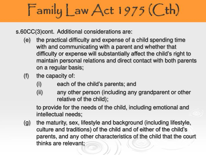 Family Law Act 1975 (Cth)