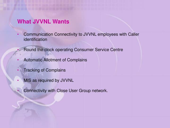 What JVVNL Wants