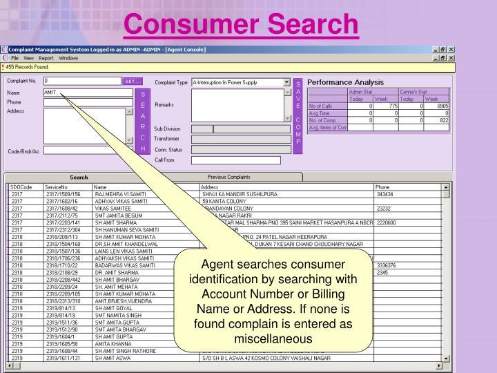 Consumer Search