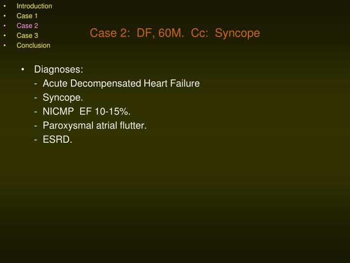 Diagnoses: