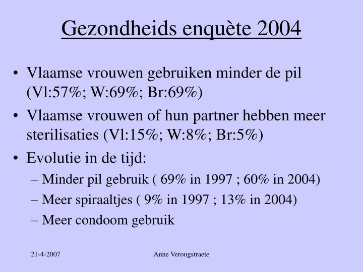 Gezondheids enquète 2004