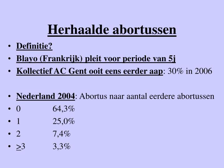 Herhaalde abortussen