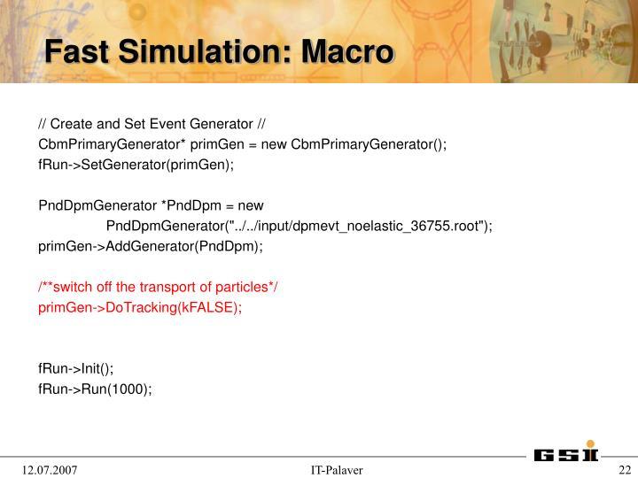 // Create and Set Event Generator //