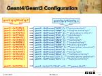 geant4 geant3 configuration