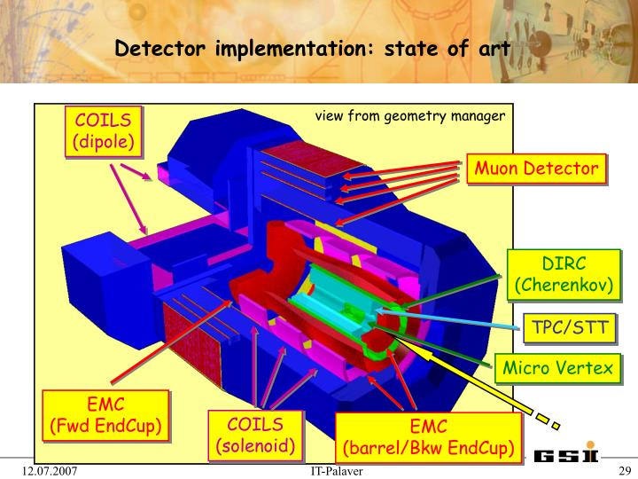 Detector implementation: state of art