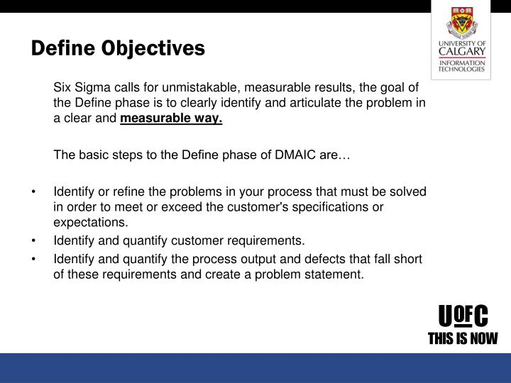 Define Objectives