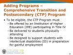 adding programs comprehensive transition and postsecondary ctp program2