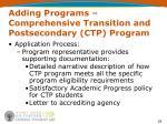 adding programs comprehensive transition and postsecondary ctp program6