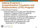 adding programs comprehensive transition and postsecondary ctp program7