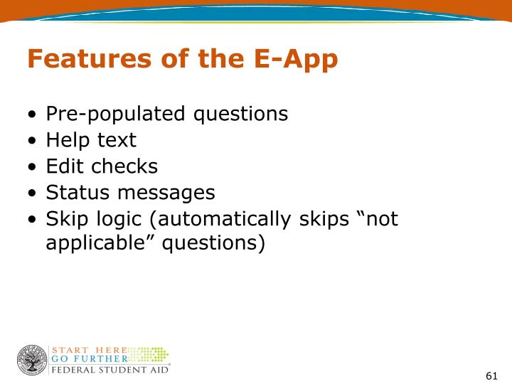 Features of the E-App