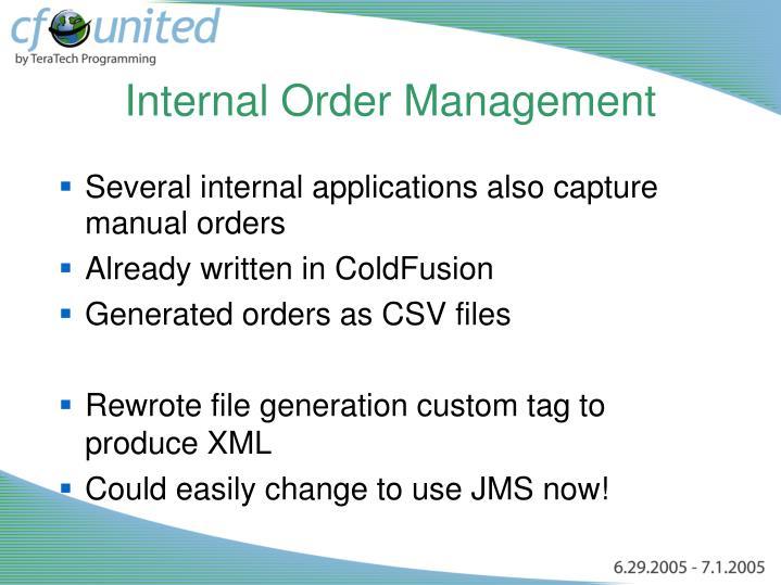 Internal Order Management