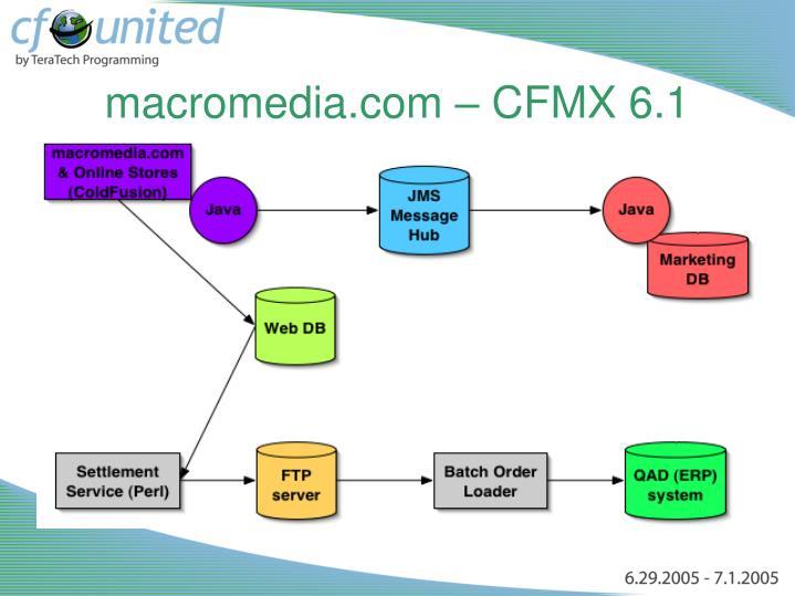 macromedia.com – CFMX 6.1