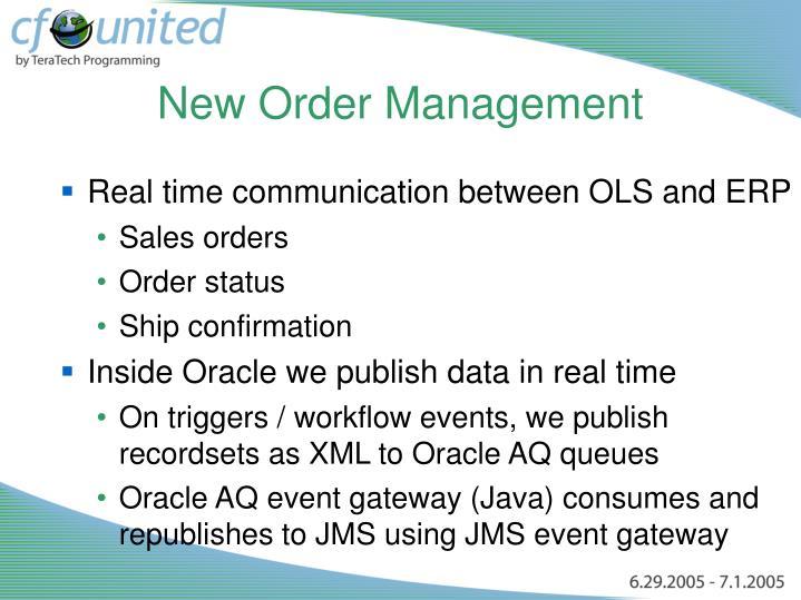 New Order Management