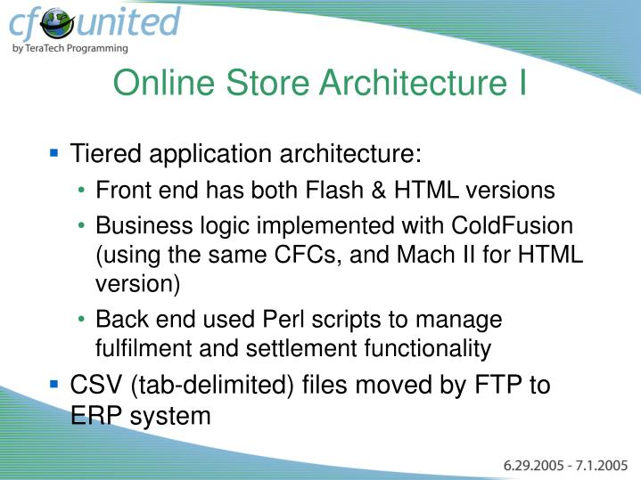 Online Store Architecture I